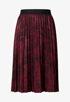 FAL COOPER - Pleated skirt - red
