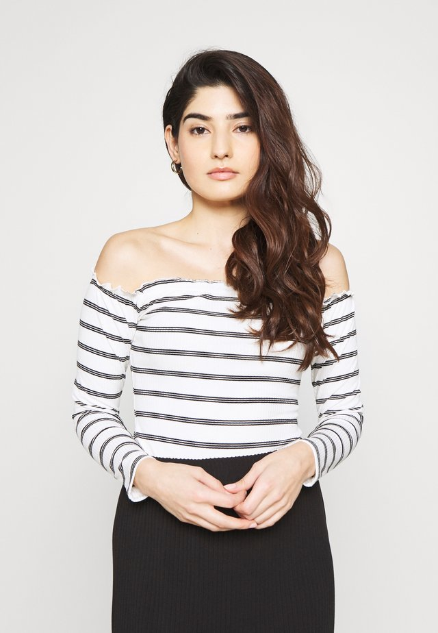 BARDOT STRIPE BODY - Langarmshirt - black/white