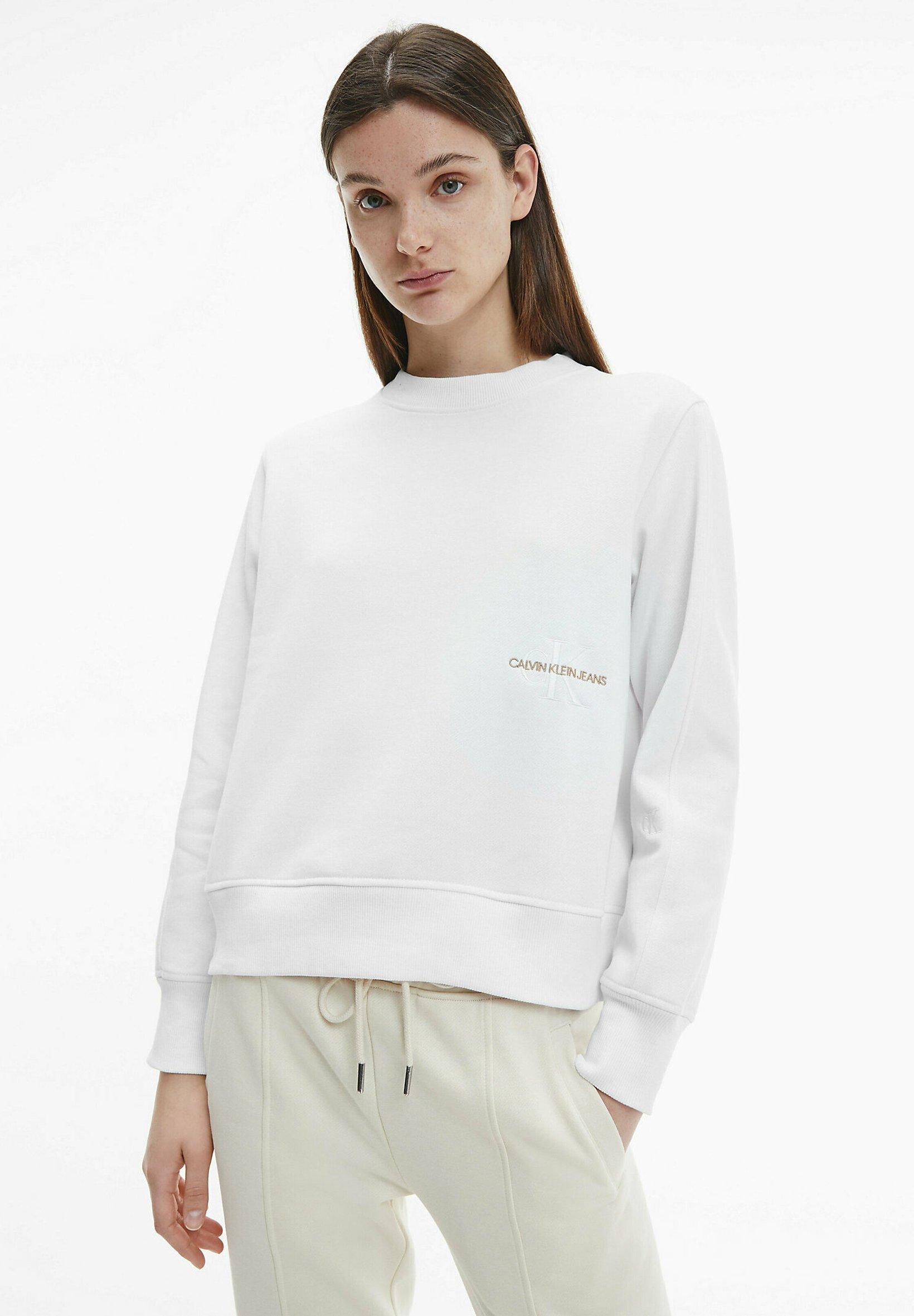 Damen OFF PLACED MONOGRAM CREW NECK - Sweatshirt