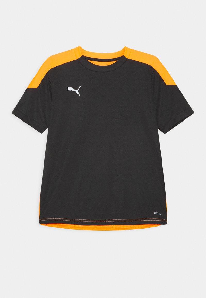 Puma - FTBLNXT UNISEX - Print T-shirt - black/shocking orange
