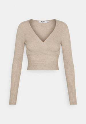 MATIAMU BY SOFIA X OVERLAP SWEATER - Jumper - beige