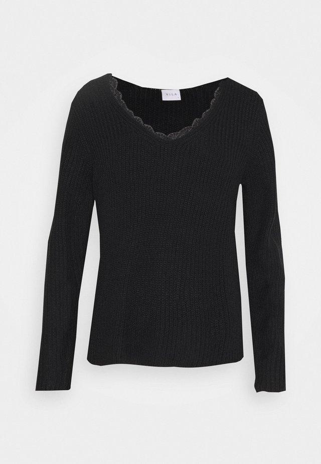 VIOA VNECK - Pullover - black