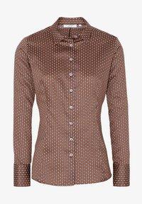 Eterna - MODERN CLASSIC SLIM FIT - Button-down blouse - braun - 3