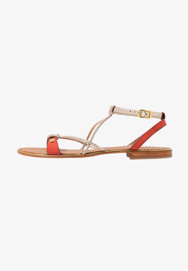HIRONBUC - Sandaler - corail/or