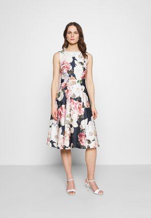 Cocktail dress / Party dress - navy/multi