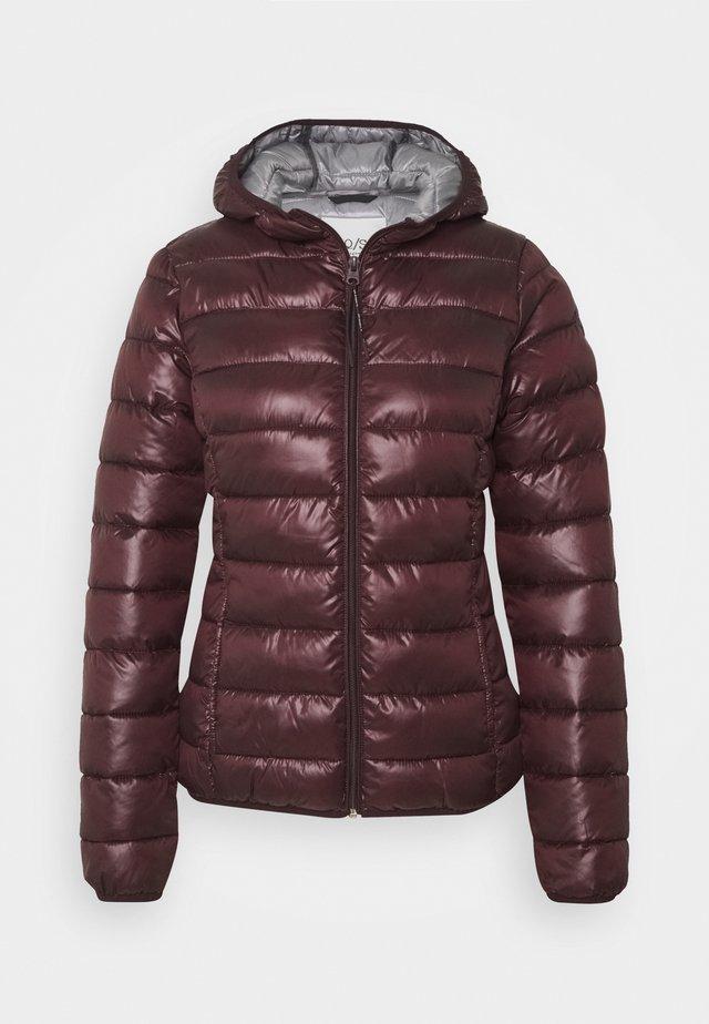 Winter jacket - dark ruby