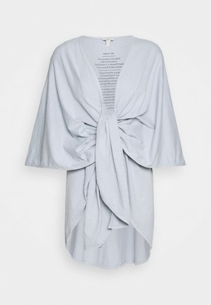 PONCHO - Cape - light blue lavender