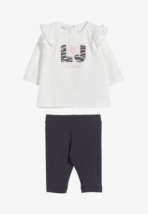 SET - Trousers - white/dark grey