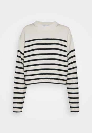 STRIPED BOUCLE