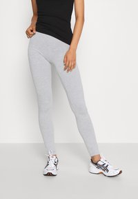 Even&Odd - 2 PACK - Leggings - mottled light grey/black - 4