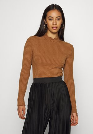 NMBERRY HIGH NECK  - Jumper - toasted coconut