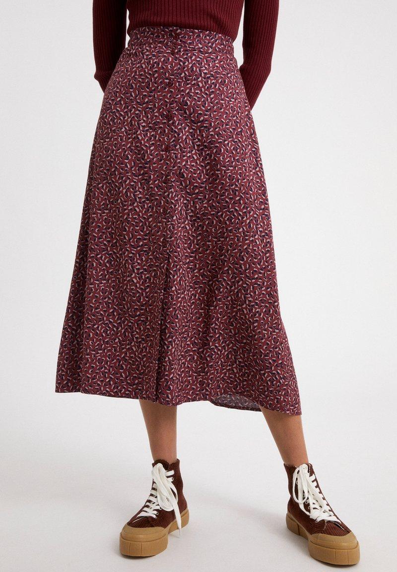 ARMEDANGELS - MADALINAA - A-line skirt - ruby red