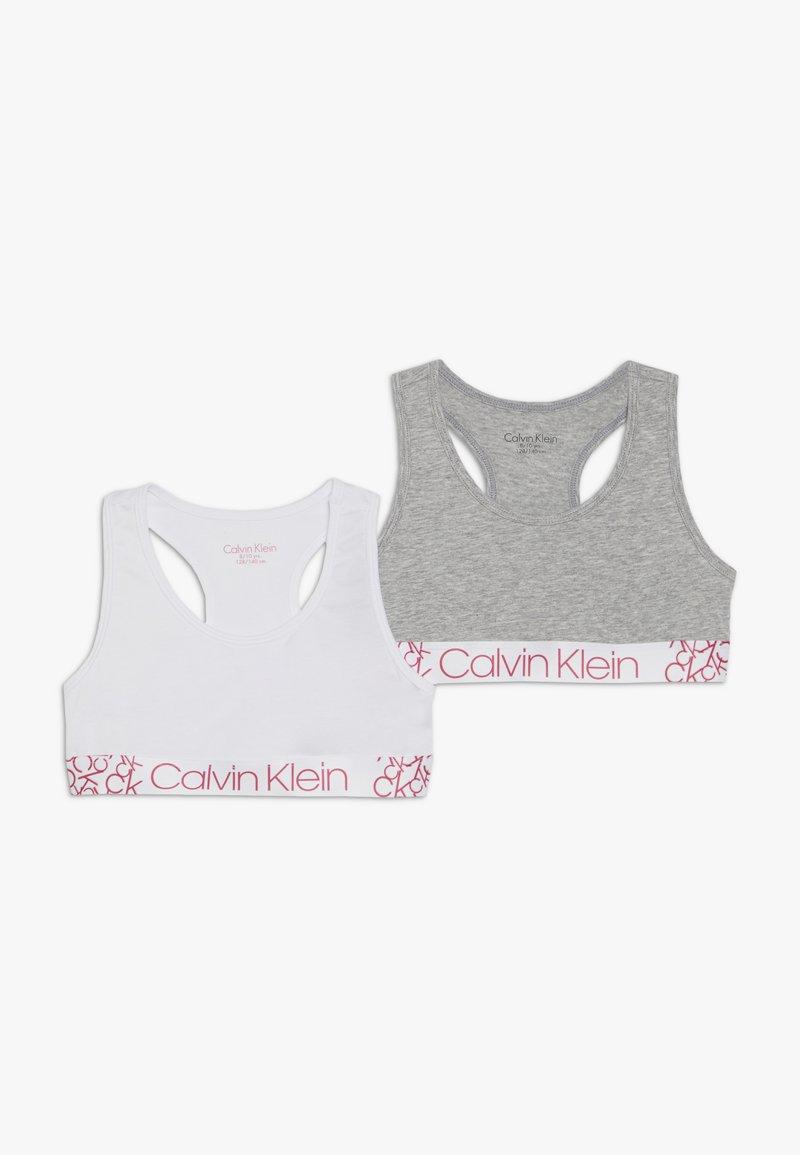 Calvin Klein Underwear - BRALETTE 2 PACK - Korzet - grey