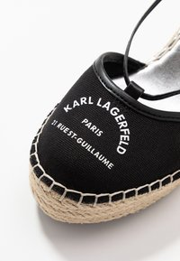 KARL LAGERFELD - KAMINI MID MAISON SLINGBACK - Sandalias de tacón - black - 2
