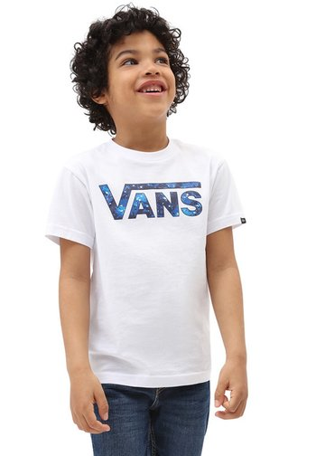 BY VANS CLASSIC LOGO FILL - Print T-shirt - white/galactic glow