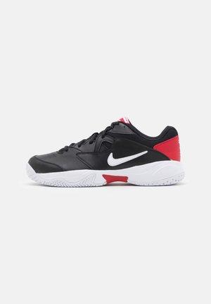 LITE 2 - All court tennisskor - black/white/gym red