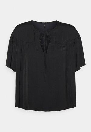 DRAPEY SHORT SLEEVE - Blouse - black