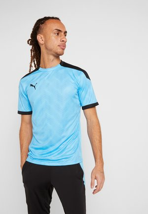 GRAPHIC  - Print T-shirt - luminous blue/puma black