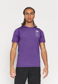 The North Face - GLACIER TEE - Triko spotiskem - mottled purple - 0