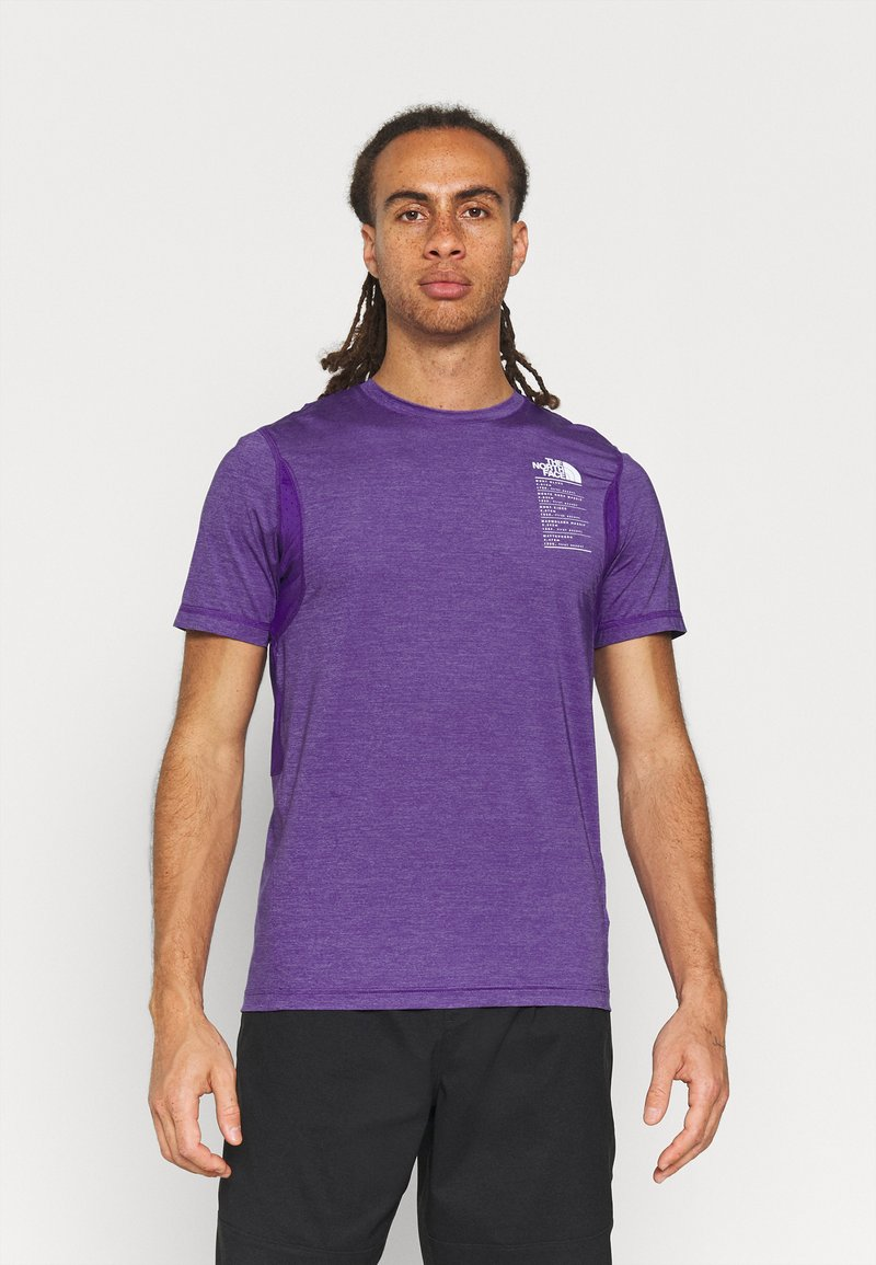 The North Face - GLACIER TEE - Triko spotiskem - mottled purple