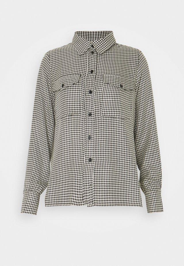 NAHLA BLOUSE - Button-down blouse - white/black