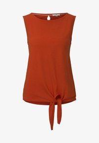 TOM TAILOR - MIT KNOTENDETAIL - Top - strong flame orange - 5