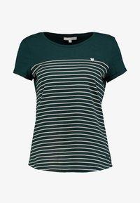 TOM TAILOR DENIM - PRINTED STRIPE TEE - T-shirt med print - green/rose - 3