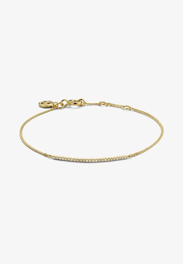LINEA DIAMOND BRACELET - Bracelet - 18k yellow gold vermeil