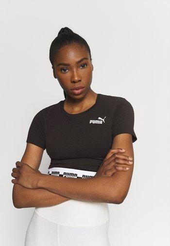 AMPLIFIED SLIM TEE - Camiseta estampada - black