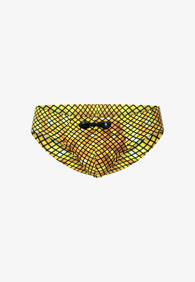 Swimming briefs - gelb/braun