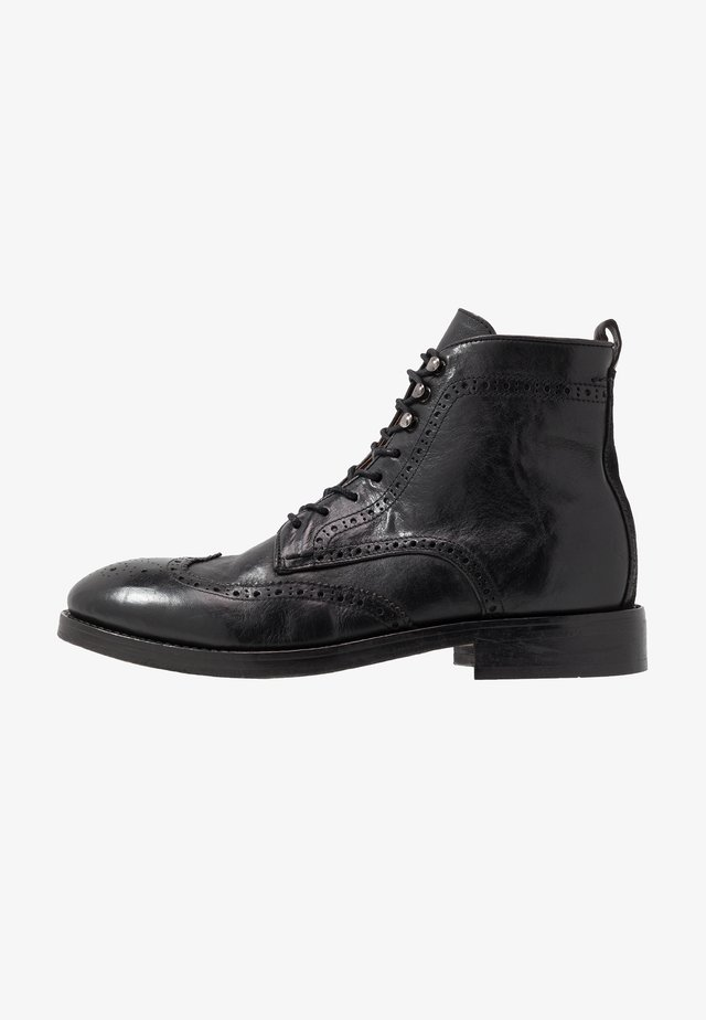 SHERWOOD - Bottines à lacets - black