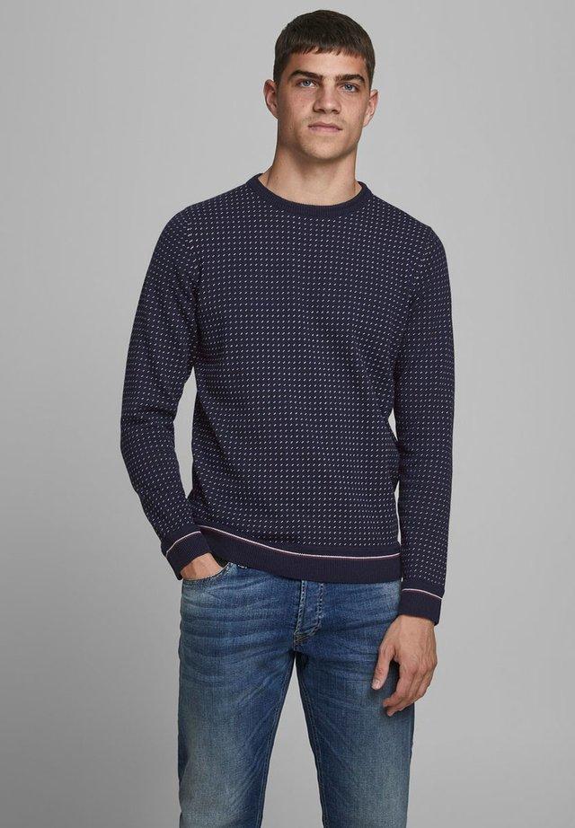RUNDHALSAUSSCHNITT - Sweatshirt - maritime blue