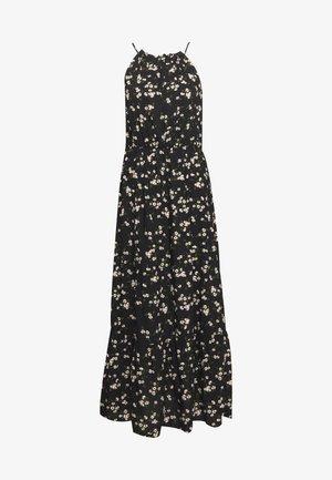 DAISY HALTER SMOCK MIDAXI DRESS - Maxi dress - black