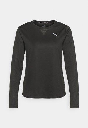 RUN FAVORITE TEE - T-shirt à manches longues - black