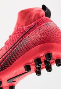 Nike Performance - MERCURIAL 7 ACADEMY AG - Moulded stud football boots - laser crimson/black - 2