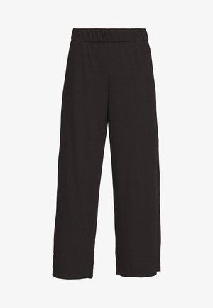 CILLA TROUSERS - Kangashousut - black dark
