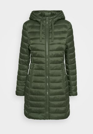COAT SHAPED FIT ZIPPER POCKETS FIX HOOD - Classic coat - lush pine