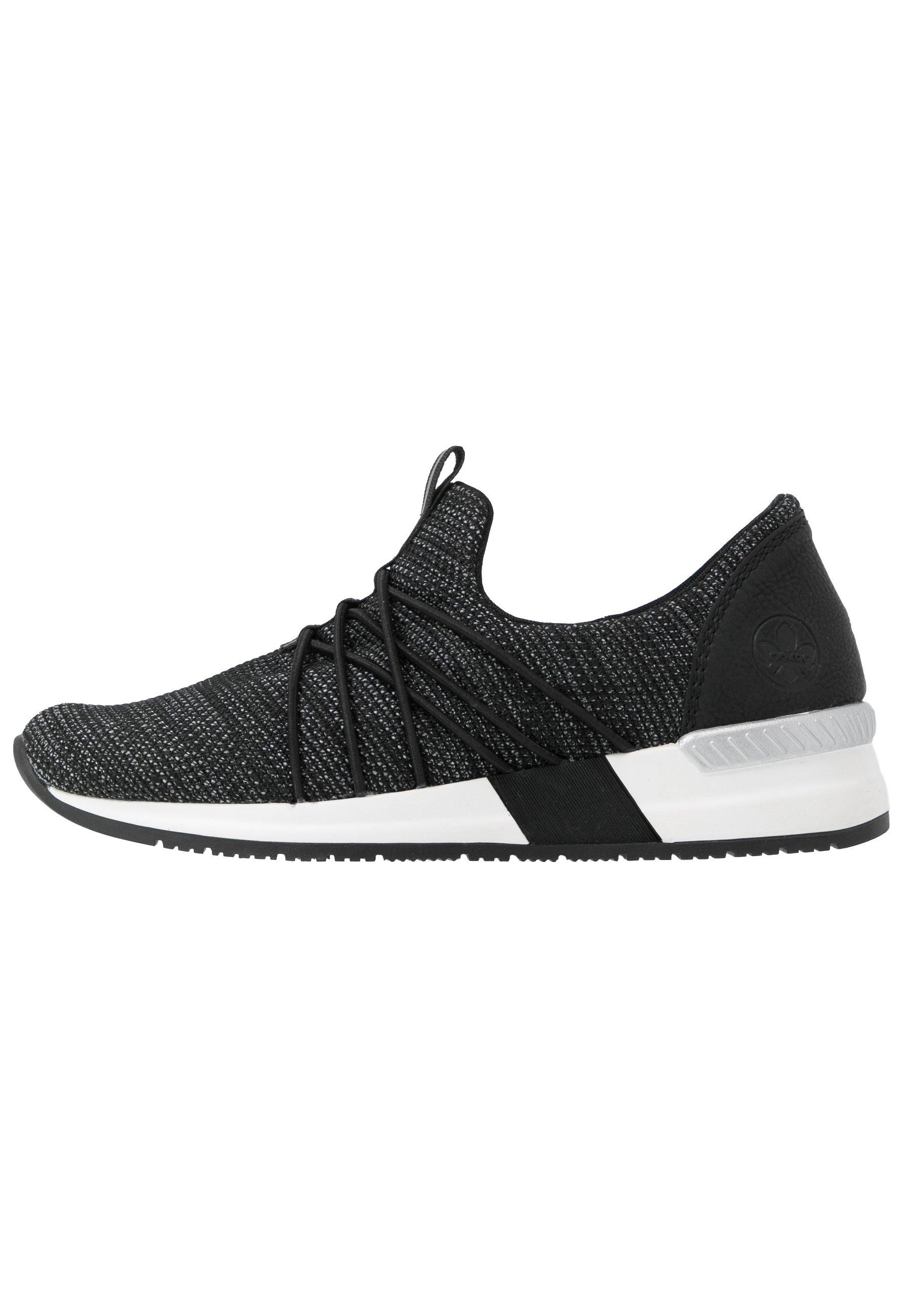 Rieker Slippers - schwarz/weiß