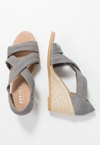Office Wide Fit - MAIDEN WIDE FIT - Wedge sandals - grey - 3