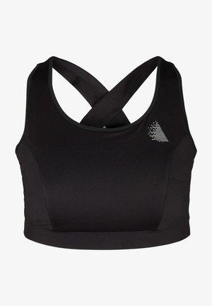 MIT RÜCKENDETAILS - Sports bra - black