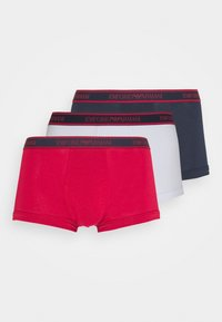 Emporio Armani - TRUNK 3 PACK - Panties - ciliegia/marin/bianc - 4