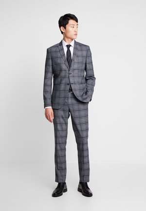 PEAKPEKA CHECK - Suit - dark grey/brown