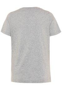 adidas Performance - UNISEX - T-shirt print - mid grey heather/blue - 1