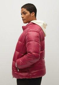 Violeta by Mango - MIT SEITLICHEN ZIPPERN - Winter jacket - fuchsia - 3