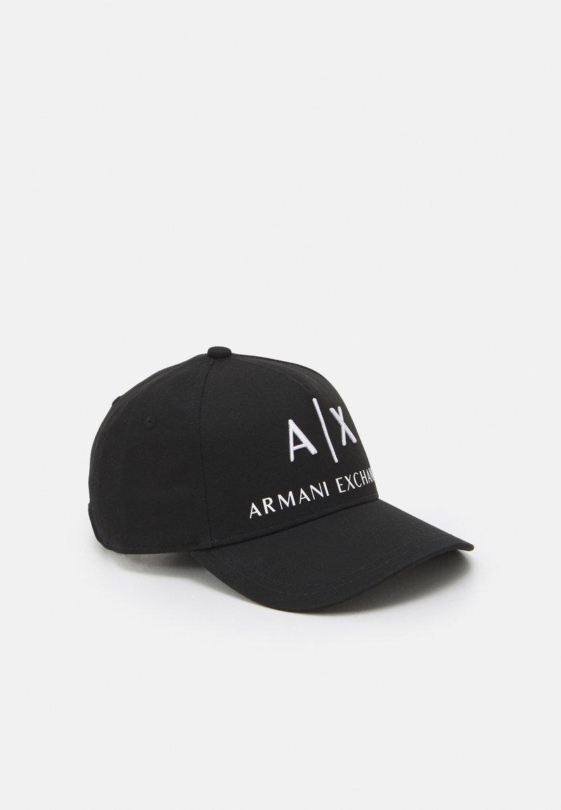 Armani Exchange - CORP LOGO HAT UNISEX - Caps - nero/bianco