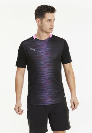 FTBLNXT PRO TEE SLIM FIT - Print T-shirt - puma black-luminous pink