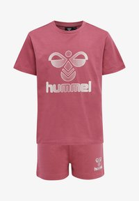 Hummel - PROUD SET - Print T-shirt - rose wine - 0