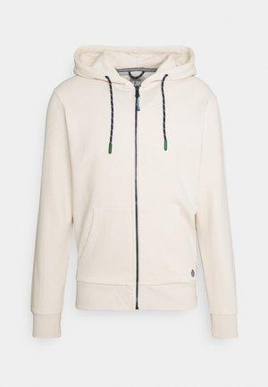 BASICA ABIERTA - veste en sweat zippée - white