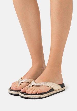 T-bar sandals - gold ferrer