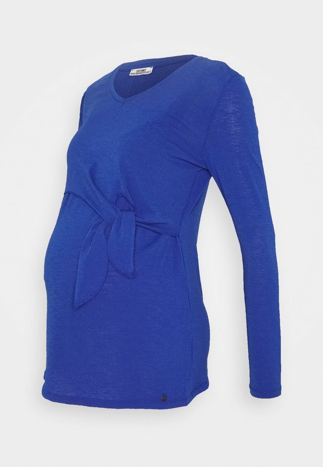 TOP NURSING CRINCLE - Long sleeved top - mazarine blue